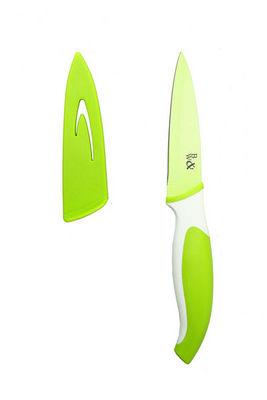 WHITE LABEL - Couteau de cuisine-WHITE LABEL-Couteau Chef en acier inoxydable avec étui