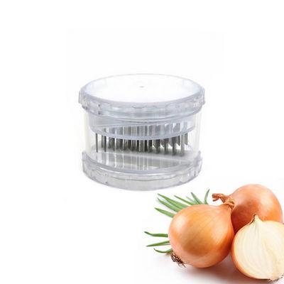 WHITE LABEL - Coupe-oignon-WHITE LABEL-Trancheuse à oignons en plastique et acier inoxyda