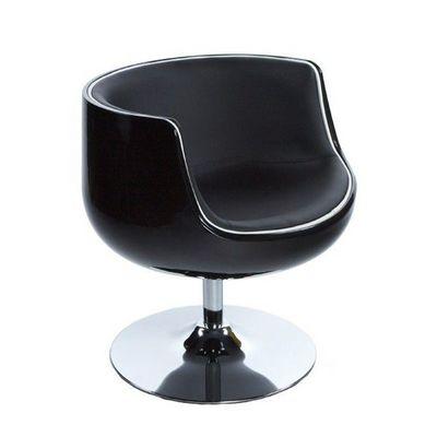KOKOON DESIGN - Fauteuil rotatif-KOKOON DESIGN-Fauteuil de salon design en similicuir MIAMI