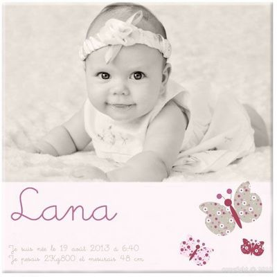 BABY SPHERE - Cadre Photo Enfant-BABY SPHERE-Toile photo naissance petites ailes