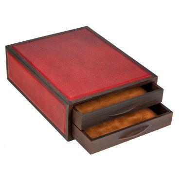 atelier de la foret - Meuble à tiroirs-atelier de la foret-Petit meuble 2 tiroirs courrier