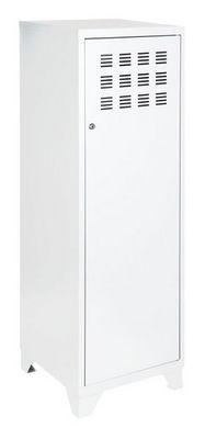 PHSA - Armoire-dressing-PHSA-Armoire 1 porte en m�tal blanc 40x40x134cm