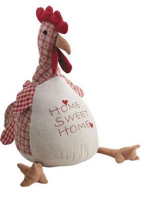 Aubry-Gaspard - Cale-porte-Aubry-Gaspard-Cale-porte poule home sweet home 2kg en coton 34x2