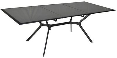 PROLOISIRS - Table de jardin-PROLOISIRS-Table rectangulaire Malaga Aluminium et Verre