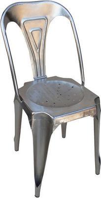Antic Line Creations - Chaise-Antic Line Creations-Chaise Vintage en métal Argent
