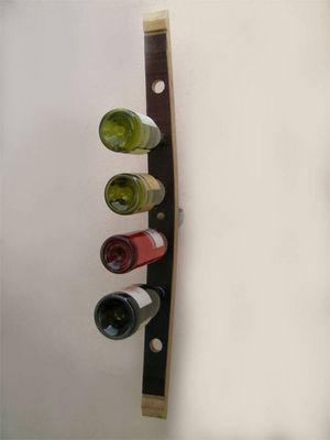 Douelledereve - Range-bouteilles-Douelledereve-Porte bouteilles en chêne finition brute 8x5x90cm