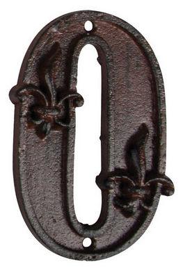 BEST FOR BOOTS - Numéro de porte-BEST FOR BOOTS-Numéro de maison 0 en fonte 11,4x7x1cm