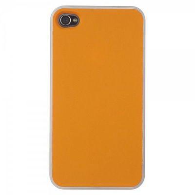 La Chaise Longue - Coque de téléphone portable-La Chaise Longue-Etui Iphone 4 Coloré duo violet/orange