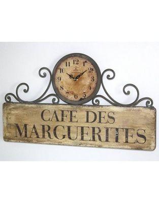 L'HERITIER DU TEMPS - Horloge murale-L'HERITIER DU TEMPS-Horloge en Fer Style Brocante