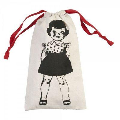 La Chaise Longue - Sac à linge-La Chaise Longue-Pochette à linge Paper Dolls Rouge