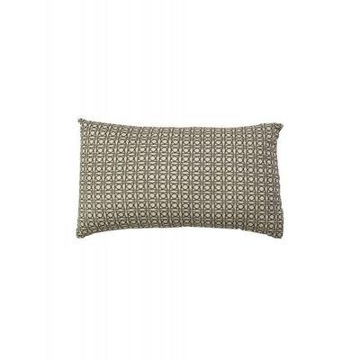 BLANC D'IVOIRE - Coussin rectangulaire-BLANC D'IVOIRE-TRISTAN gris