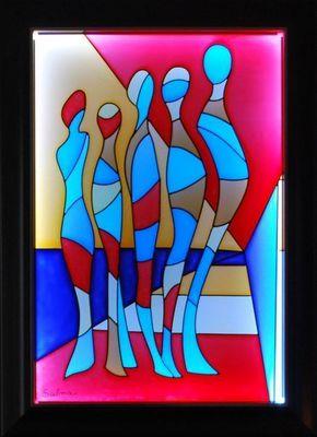 LIGHT MY ART - Tableau lumineux-LIGHT MY ART-� Les martiens � � par Salma