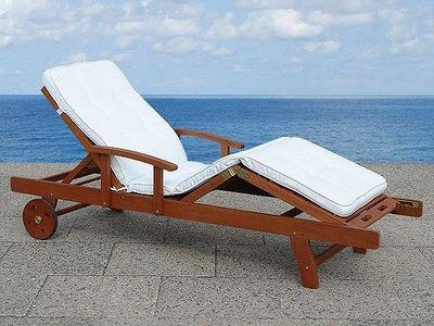 BELIANI - Chaise longue de jardin-BELIANI-beige
