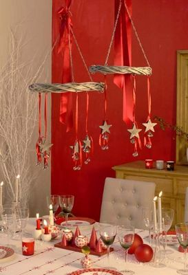 Interior's - Décoration de table de Noël-Interior's-suspension- 3 etoiles