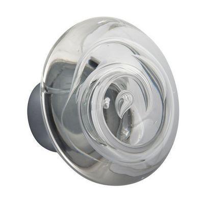 Les Verreries De Brehat - Bouton de porte-Les Verreries De Brehat-Tubes de bulles disque incolore