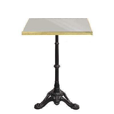 Ardamez - Table bistrot-Ardamez-Table de bistrot émaillée gris / laiton / fonte
