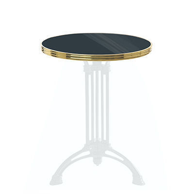 plateau de table de bistrot maill e anthracite plateau de. Black Bedroom Furniture Sets. Home Design Ideas