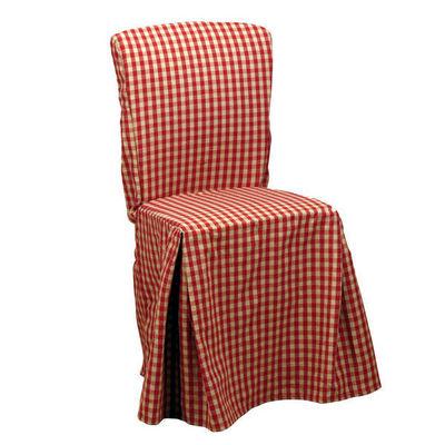Interior's - Housse de chaise-Interior's-Housse de chaise vichy rouge