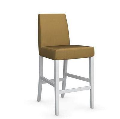 Calligaris - Chaise haute de bar-Calligaris-Chaise de bar LATINA de CALLIGARIS jaune moutarde