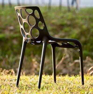 Calligaris - Chaise de jardin-Calligaris-Chaise empilable HERO de CALLIGARIS noire