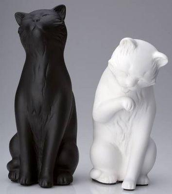 La Chaise Longue - Serre-livres-La Chaise Longue-Serre-livres chats noir et blanc (lot de 2)
