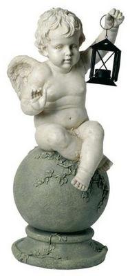 Antic Line Creations - Statuette-Antic Line Creations-Statuette  Ange avec lanterne en résine