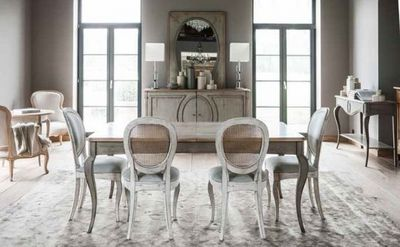 Grange - Table de repas rectangulaire-Grange-Medaillon