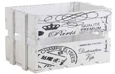 Aubry-Gaspard - Caisse de rangement-Aubry-Gaspard-Caisse en bois blanc Paris