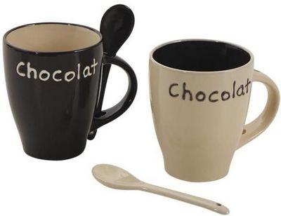 Aubry-Gaspard - Mug-Aubry-Gaspard-Mug � chocolat en gr�s (Lot de 2)