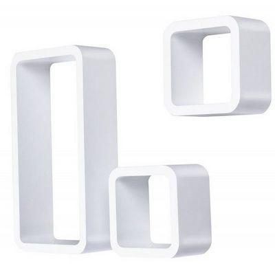 WHITE LABEL - Etag�re-WHITE LABEL-�tag�re murale x3 cube design blanc
