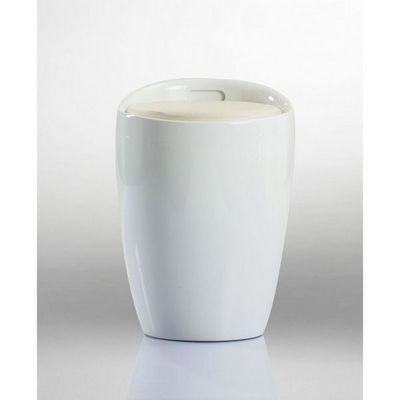 WHITE LABEL - Tabouret-WHITE LABEL-Pouf Tabouret Siege Coffre De Rangement