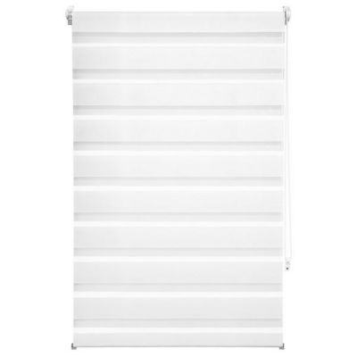 WHITE LABEL - Store enrouleur-WHITE LABEL-Store enrouleur blanc 76 x 120 cm
