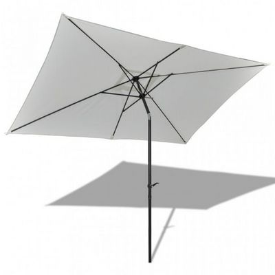 WHITE LABEL - Parasol télescopique-WHITE LABEL-Parasol rectangulaire manivelle et bascule