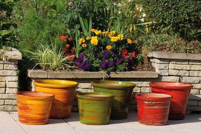 Les Poteries D'albi - Pot de jardin-Les Poteries D'albi-Vase Droit