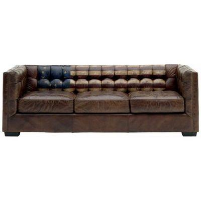 Mathi Design - Canapé Chesterfield-Mathi Design-Canapé en cuir vieilli