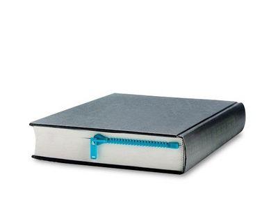 WHITE LABEL - Marque-page-WHITE LABEL-Marque-page-en-forme-de-fermeture �clair zip objet