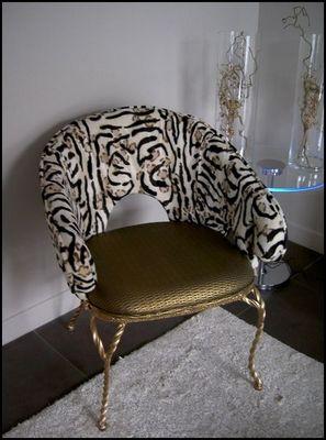 Mathi Design - Fauteuil-Mathi Design-Fauteuil baroque Bronze
