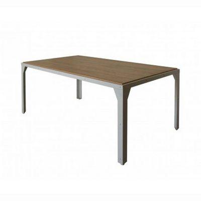 Delorm design - Table de repas rectangulaire-Delorm design-Table repas 180cm en métal et bois