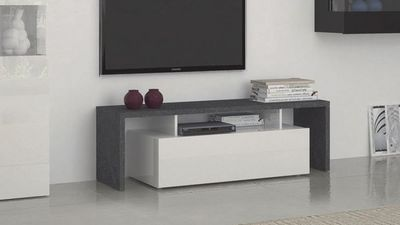 WHITE LABEL - Meuble tv hi fi-WHITE LABEL-Meuble design TV TREVISO 2  blanc