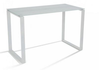 WHITE LABEL - Bureau-WHITE LABEL-Bureau NASDROVIA en verre tremp� blanc 120 cm