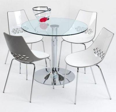 Calligaris - Table de repas ronde-Calligaris-Table repas ronde PLANET de CALLIGARIS 90x90 en ve