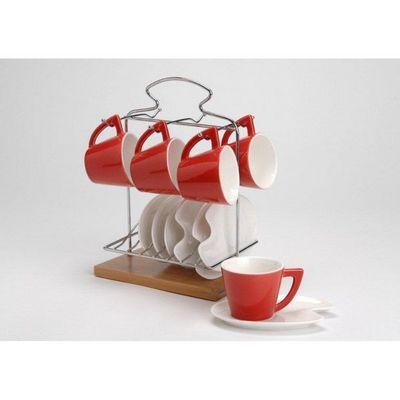 Amadeus - Service � caf�-Amadeus-LOT de 6 tasses avec sous-tasses et 1 rack de rang