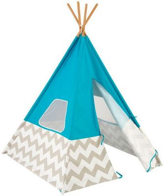 KidKraft - Tente enfant-KidKraft-Tente tipi pour enfant Turquoise
