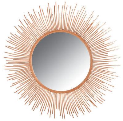 Aubry-Gaspard - Miroir-Aubry-Gaspard-Miroir rond en métal cuivré