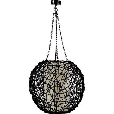 Aubry-Gaspard - Lampe à poser-Aubry-Gaspard-Lampe boule rotin