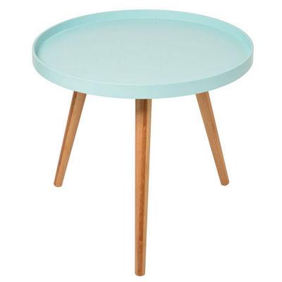 La Chaise Longue - Table basse ronde-La Chaise Longue-Table basse bleue Aqua 50x45cm
