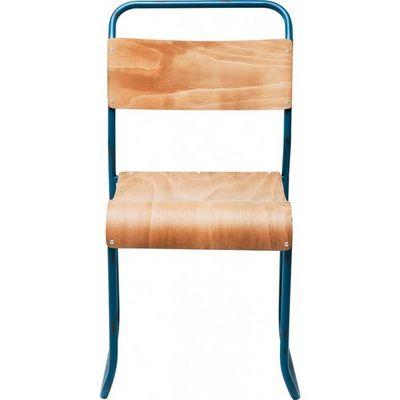 Kare Design - Chaise-Kare Design-Ensemble 4 chaises School Bleu
