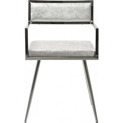 Kare Design - Chaise-Kare Design-Chaise avec accoudoirs Jazz chrome