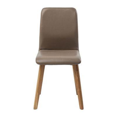 Kare Design - Chaise-Kare Design-Chaise Lara cuir taupe