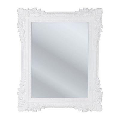 Kare Design - Miroir-Kare Design-Miroir Fiore blanc 89x109cm